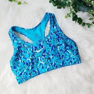 Nike Abstract Blue Dri-Fit Sports Bra